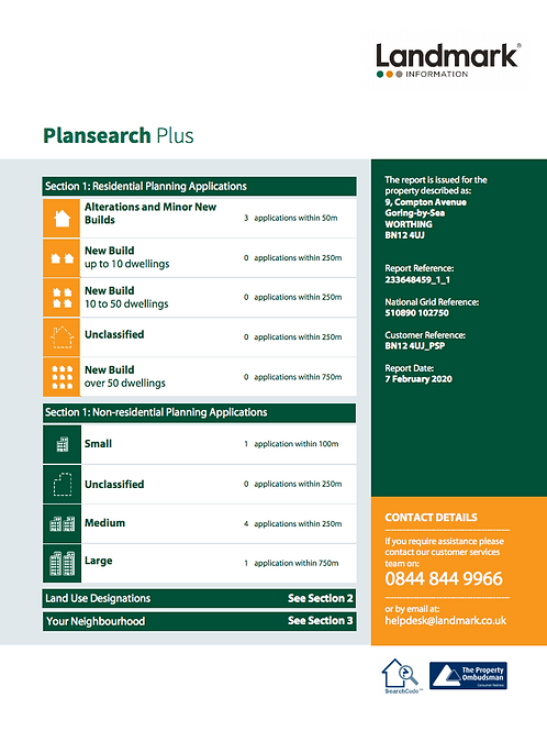 PlanSearch Plus Report