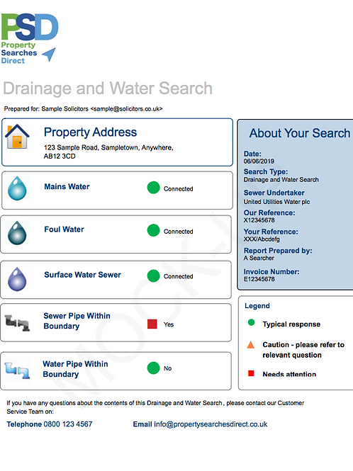 Drainage & Water Search (Regulated)