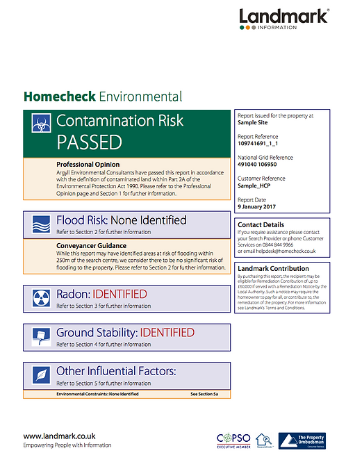HomeCheck Pro Environmental