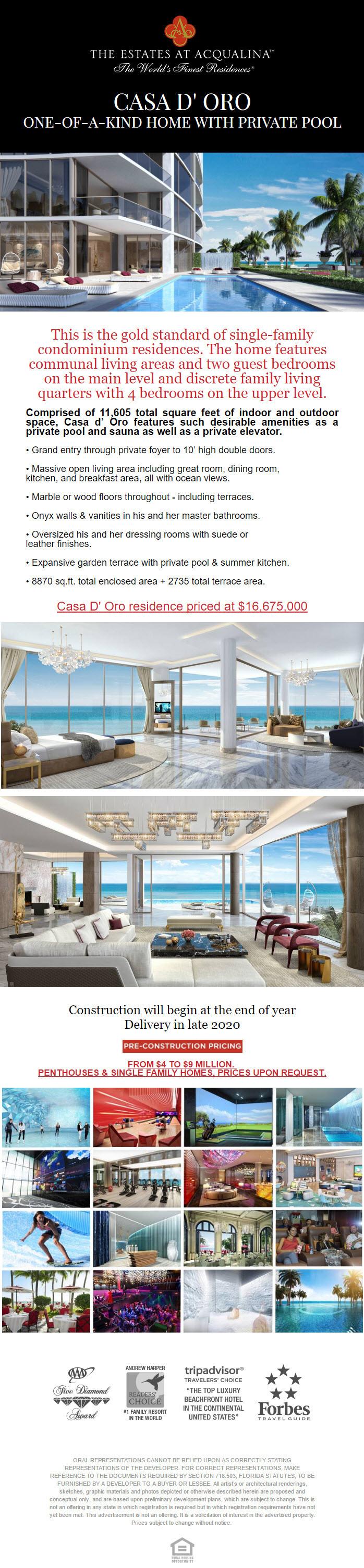 The Estates At Acqualina - Casa D' Oro