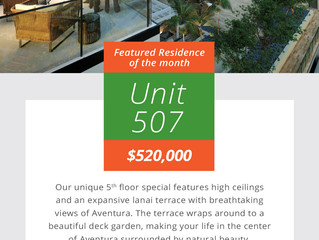 Introducing Residence 507 at Aventura ParkSquare
