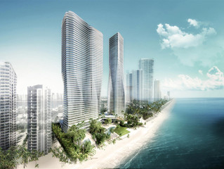 Sales Center Under Construction For Twin 56-Story Towers In Sunny Isles