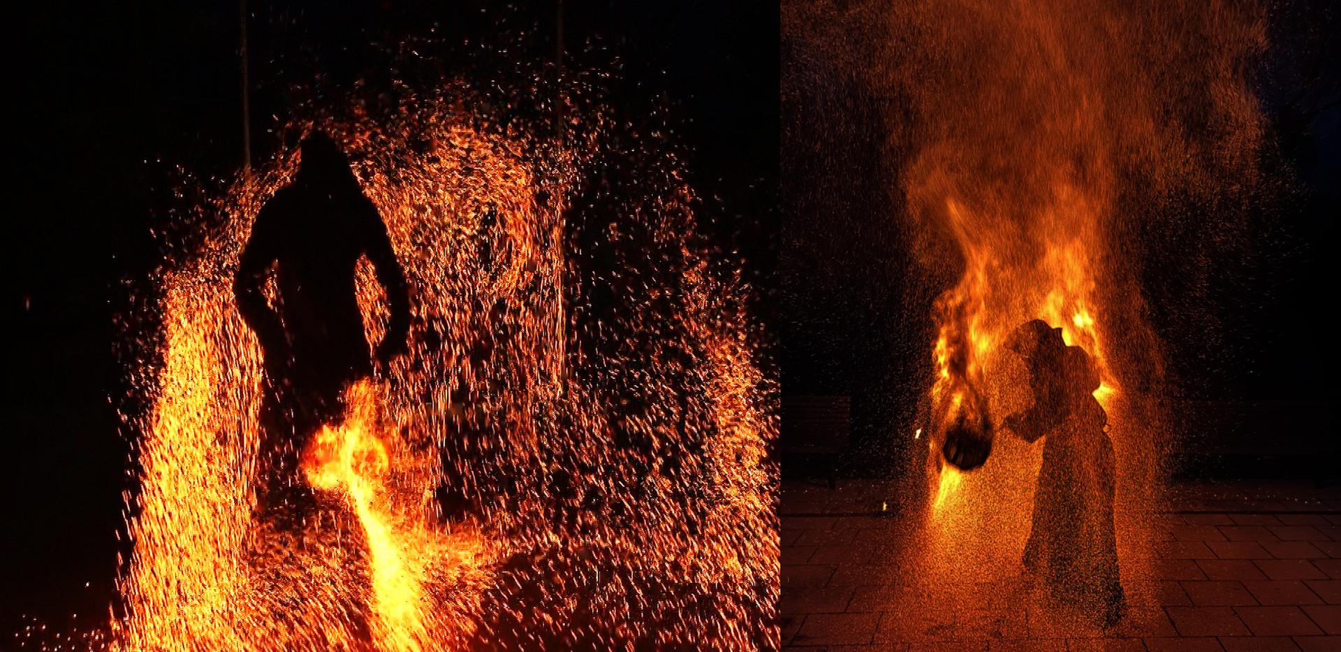 Kohlefunken Feuer