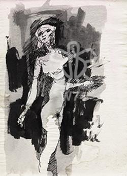 Mujer camina