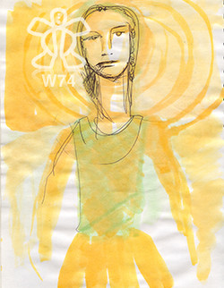 Dama de amarillo