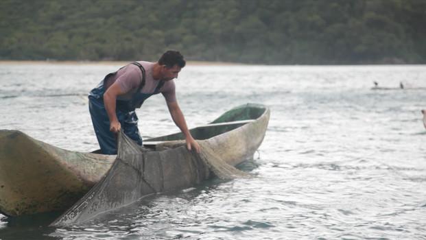 Caiçara Fisherman with Net
