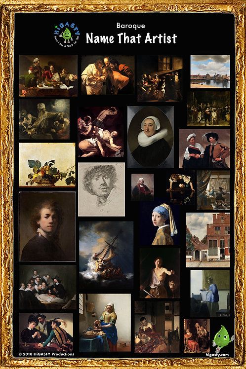 "Baroque ""Name that Artist"" Poster"