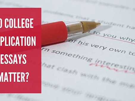 Do College Application Essays Matter?
