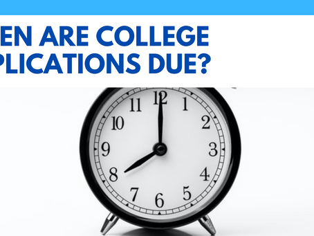 When Are College Applications Due?