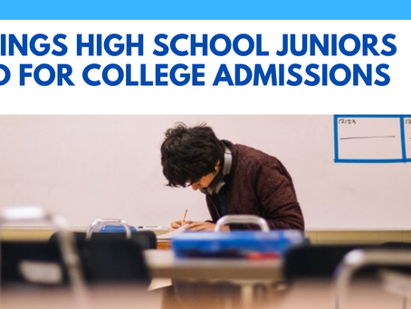 5 Things High School Juniors Need To Do To Prep For College Admissions
