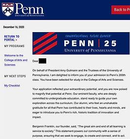 UPenn Admit Letter 02