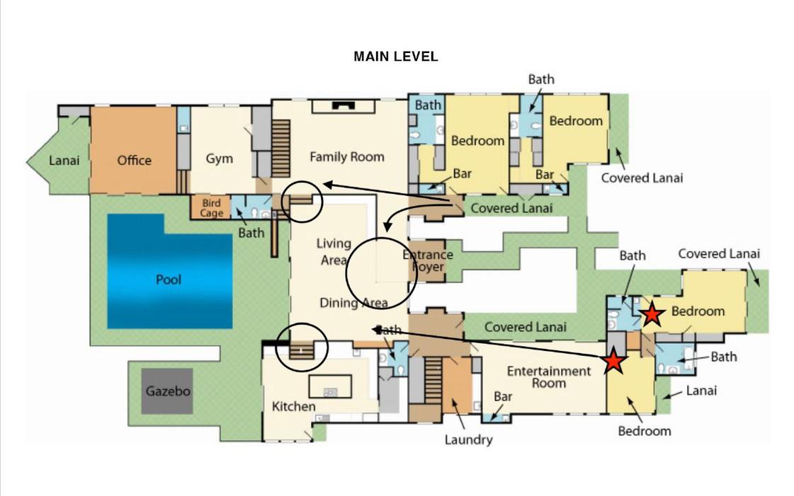 Oahu villa main level
