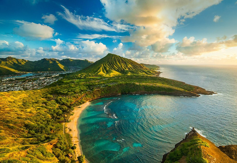 Beautiful view of Oahu, thank you for visiting