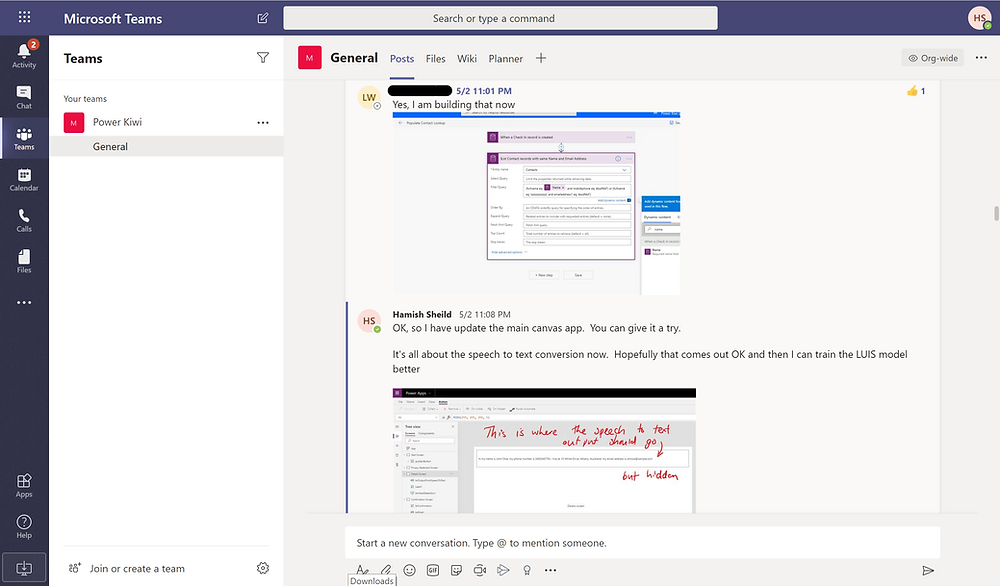 Collaboration in Microsoft Teams