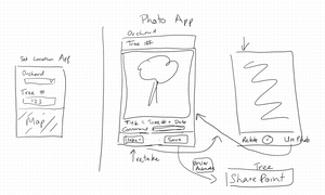 Rough first prototypes of Power Apps