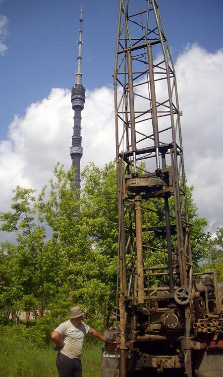 Геологические изыскания для строительства нового здания телекомпании НТВ