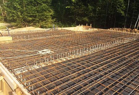 Подготовка бетонной плиты под фундамент