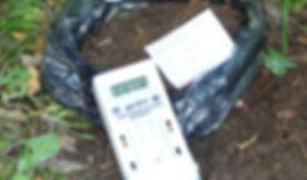 Измерение дозиметром уровня радиации