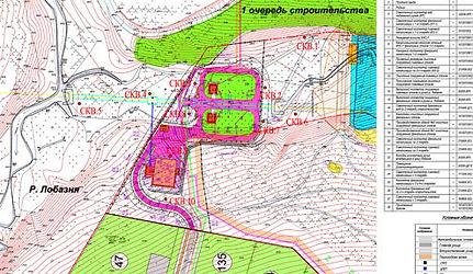 Топографический план участка строительства