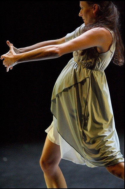 Performing the solo in Ghost Garden. Choreographed by Yolande Snaith.