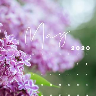 May Mobile Calendar Wallpaper