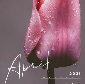 April Mobile Calendar Wallpaper