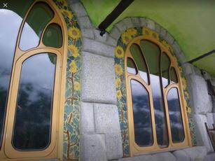 Window Trim Sunflower Tiles
