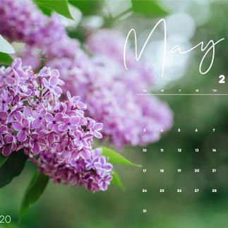 May Desktop Calendar Wallpaper