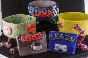 Bowls with Leash Holders