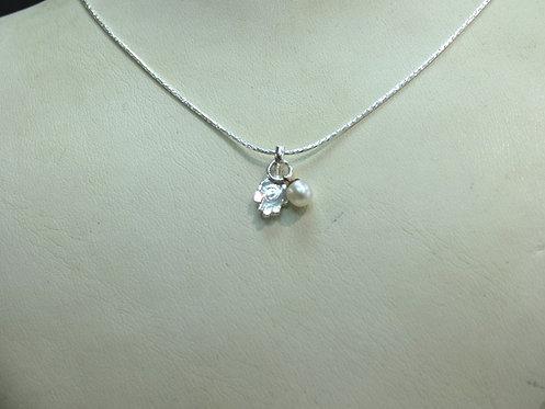 Silver Hamsa Necklace - 17B3503