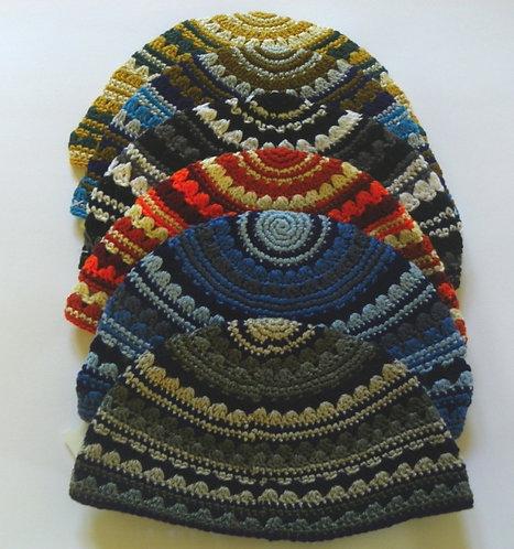 6 Handmade Frik Kippah - 9919