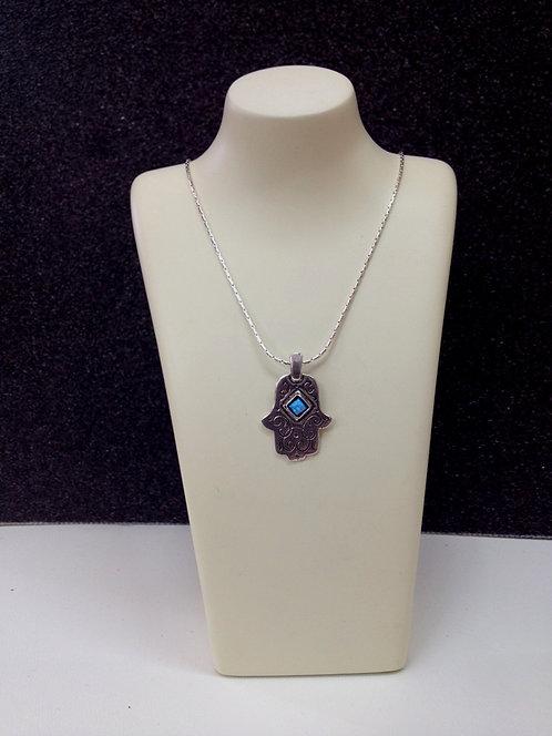 Silver Hamsa Necklace - 17B2468