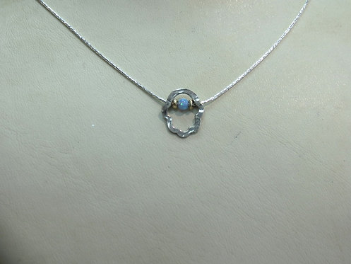 Silver Hamsa Necklace - 17B3494
