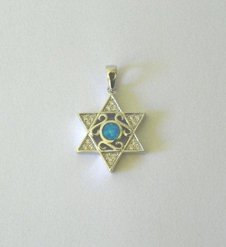 Sterling Silver Star Of David Pendant - 86686