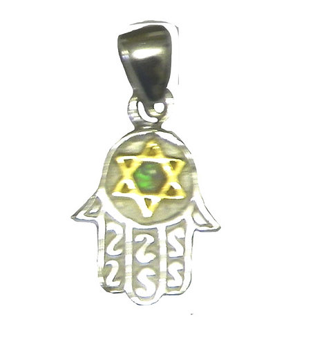 Hamsa + Star Of David necklace 8NP452