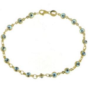Gold Plated Eye Bracelet - 8BC05399