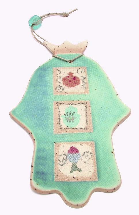 Turquoise Hamsa 1623L