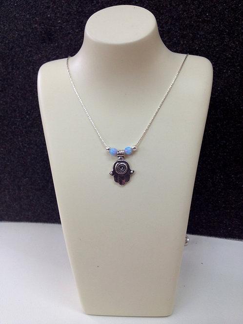 Silver Hamsa Necklace - 17B3345