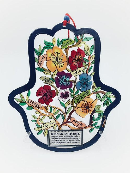 Colorful meta, 7 Blessing,flower Hamsa,Home Blessing -124026