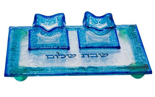 Mini set - challah plate + candlesticks 5620