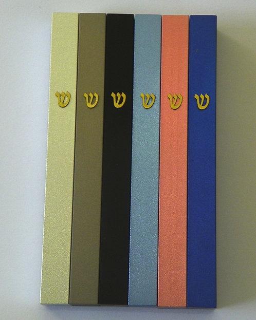 Set of 6 assorted colors mezuzah - 444