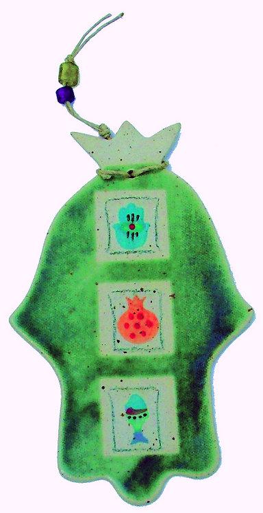 Antique Green Hamsa 16212L