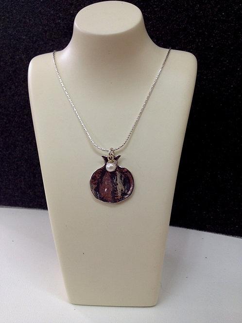 Silver Pomegranate Necklace - 17B3024