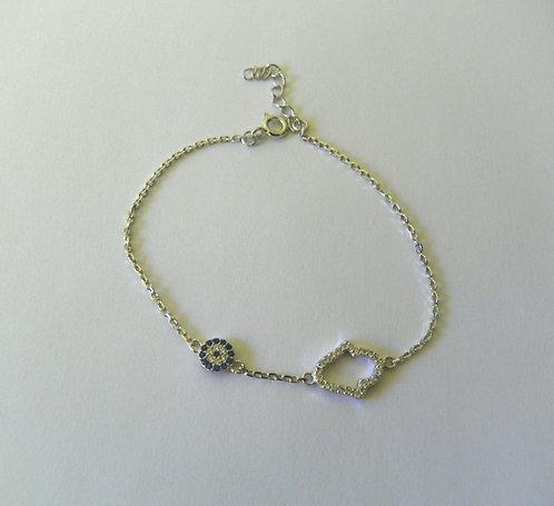 Sterling Silver Hamsa Bracelet - 86821