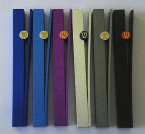 Set of 6 assorted colors mezuzah - 447