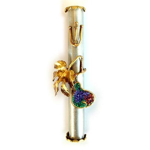 Fig Brass Mezuzah - 77B191