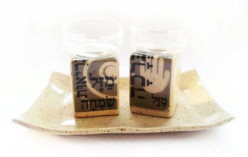 Shabbat Candlestick 16614