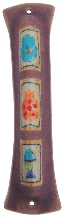 Purple Painted Mezuzah 1618L