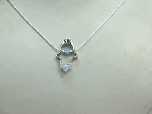 Silver Hamsa Necklace - 17B3493