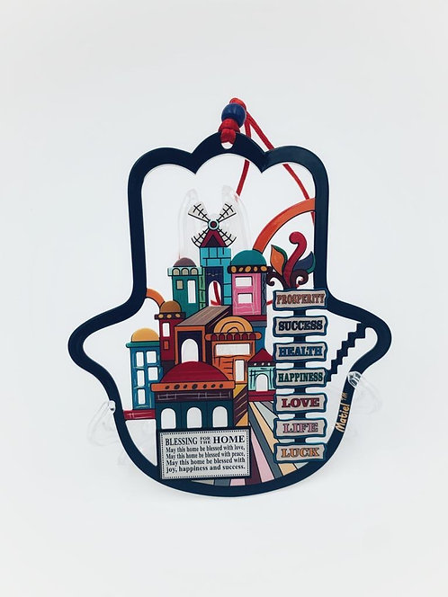 Colorful metal 7 Blessing Hamsa Home Blessing -124027